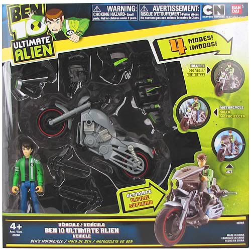 Ben 10 Ultimate Alien Ben with Motorcyle