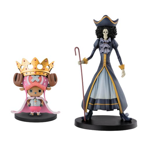 One Piece 15th Anniversary Chopper and Brook Figure Set