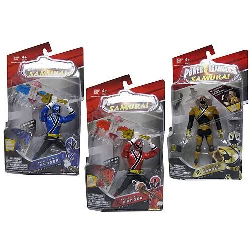 Power Rangers Samurai 6 1/2-Inch Figures Wave 2 Case
