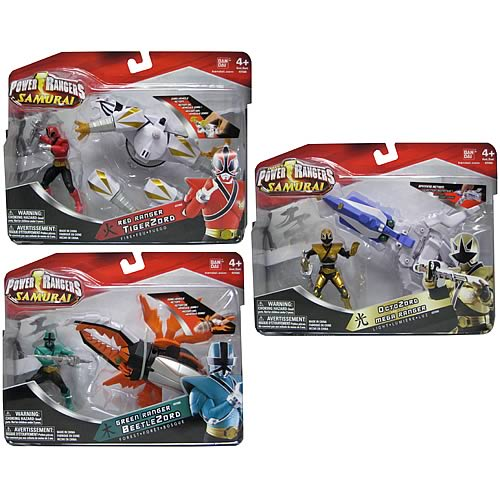 Power Rangers Samurai Zord Vehicle with Figure Case