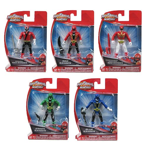 Power Rangers Super Megaforce 4-Inch Figures Wave 1 Case