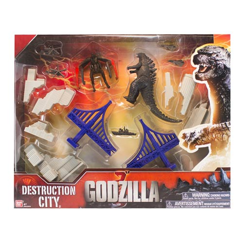 Godzilla 2014 Movie Deluxe Destruction Playset