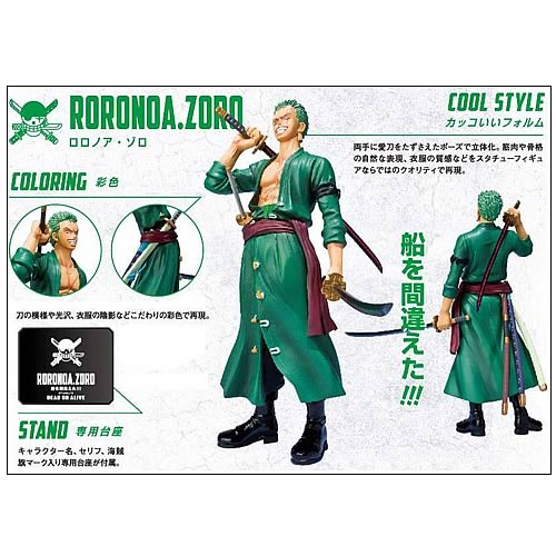 One Piece Roronoa Zoro New World Version Action Figure