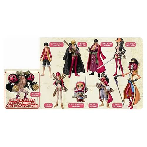 One Piece Film Z Final Bout Clothes Action Figure 8-Pack