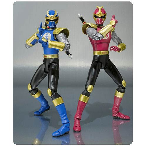 Power Rangers Ninja Storm Crimson and Navy Ranger Figures
