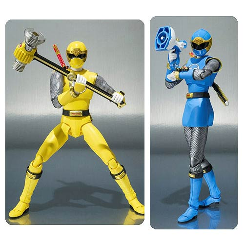 Power Rangers Ninja Storm Blue and Yellow Ranger Figures