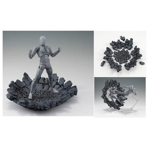 Tamashii Effect Impact Gray Version Action Figure Stand