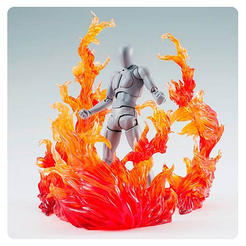 Red Burning Flame Action Figure Effect Accessories
