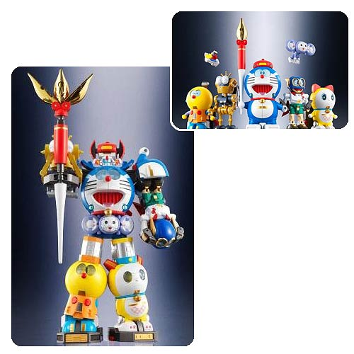 Doraemon Ultimate Combining SF Robot Die-Cast Action Figure