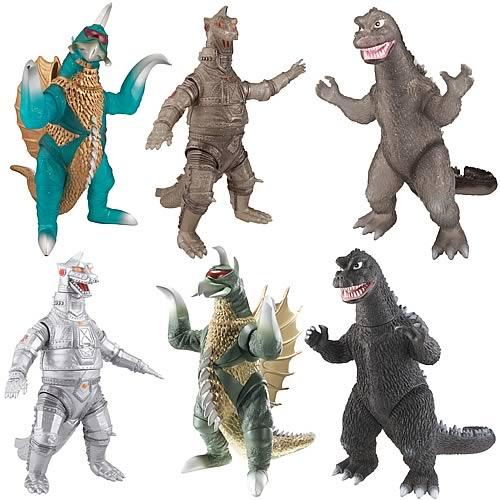 Godzilla 6 1 2 Inch Action Figure Wave 2 Set Bandai