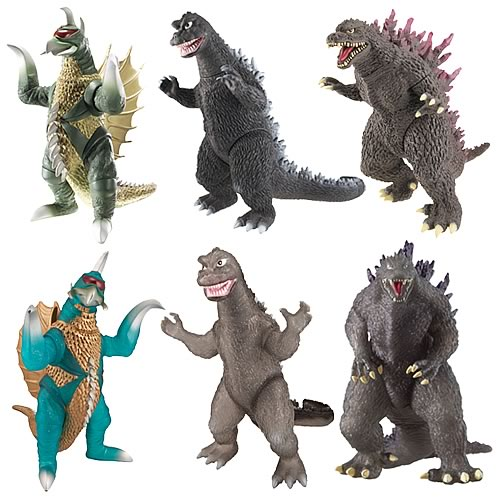 Godzilla 6 1/2-Inch Action Figure Wave 3 Set