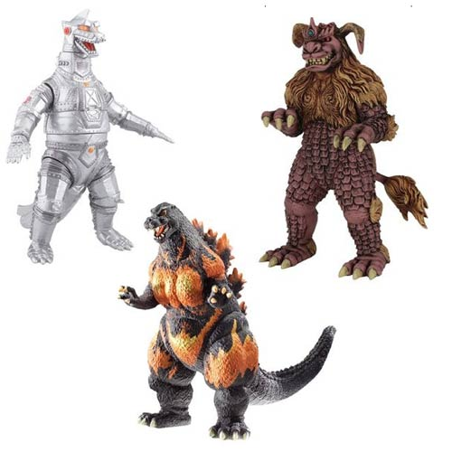 Godzilla Wave 4 Collectible 6-Inch Action Figure Set
