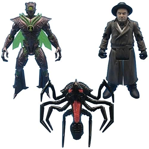 Ben 10 Alien Swarm Movie Collection 4-Inch Figure 3-Pack