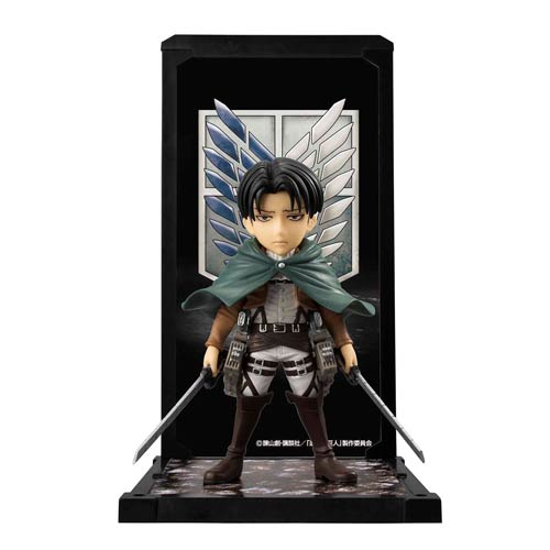 Attack on Titan Captain Levi Tamashii Buddies Mini-Statue
