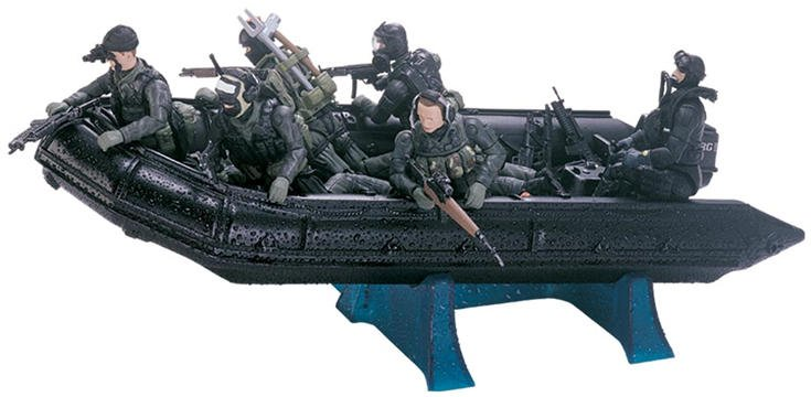 Military Toys Elite Force 1 18 : Elite force seal boat blue box toys military