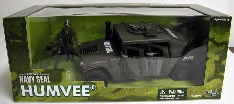 Military Toys Elite Force 1 18 : Elite force seal humvee blue box toys military