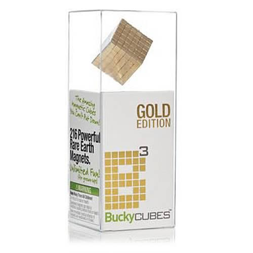 Buckycubes Gold 216 Piece Magnetic Toy