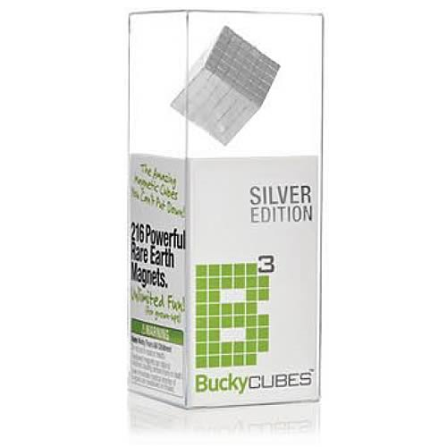 Buckycubes Silver 216 Piece Magnetic Toy