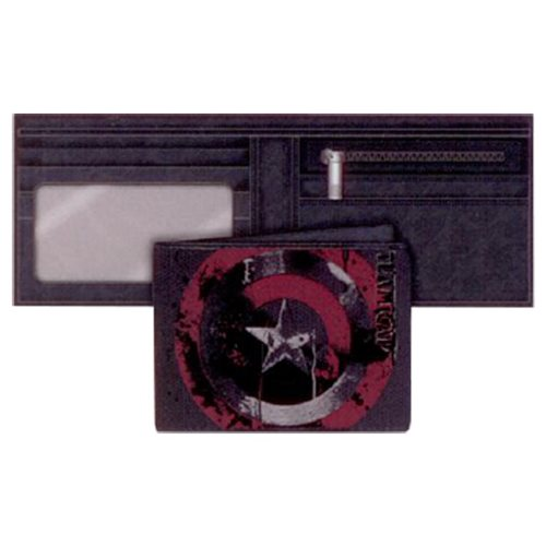 Marvel Comics Civil War Legend Captain America Canvas Wallet