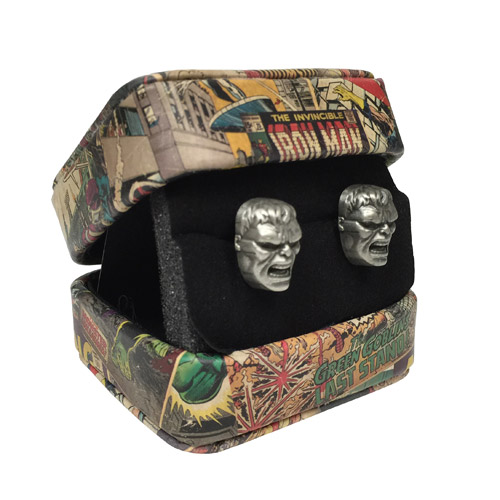 Hulk Marvel 3-D Cufflinks