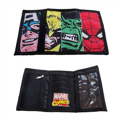 Marvel Face Off Collection Velcro Wallet