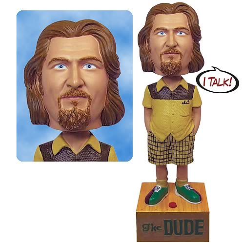 EE Exclusive The Big Lebowski The Dude Talking Bobble Head