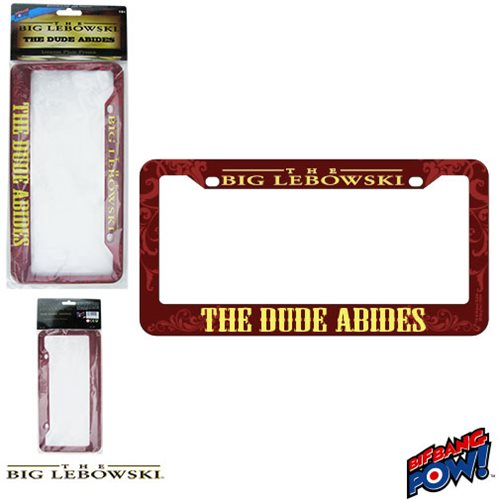 The Big Lebowski The Dude Abides License Plate Frame