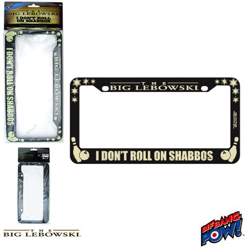 The Big Lebowski I Don't Roll on Shabbos License Plate Frame