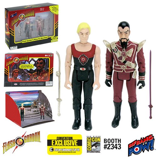 Flash Gordon and Ming Hawk City Scene 3 3/4-Inch Figure Set - Convention Exclusive