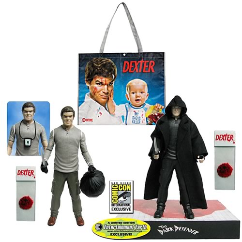 Dexter 7-Inch Action Figures and SDCC Showtime Bag Bundle