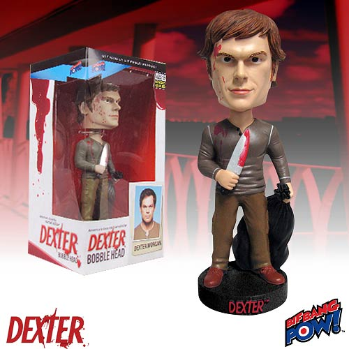Dexter Kill Outfit with Blood Spatter Bobble Head