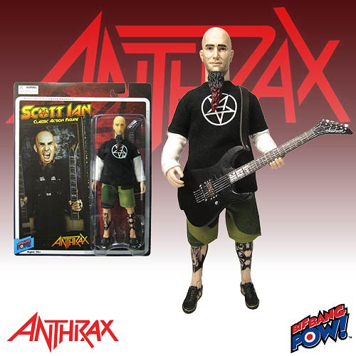 Scott Ian 8-Inch Action Figure, Not Mint