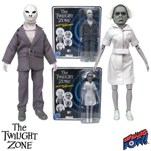 The Twilight Zone Alien and Nurse Action Figures