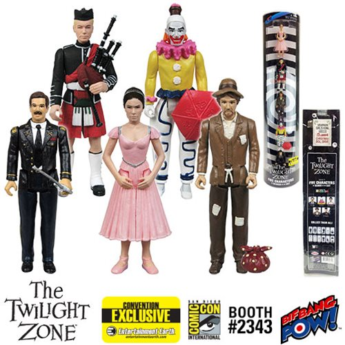 The Twilight Zone Five Characters 3 3/4-Inch Figures-ConExcl