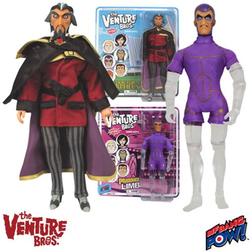 The Venture Bros. Dr. Orpheus & Phantom Limb Action Figures