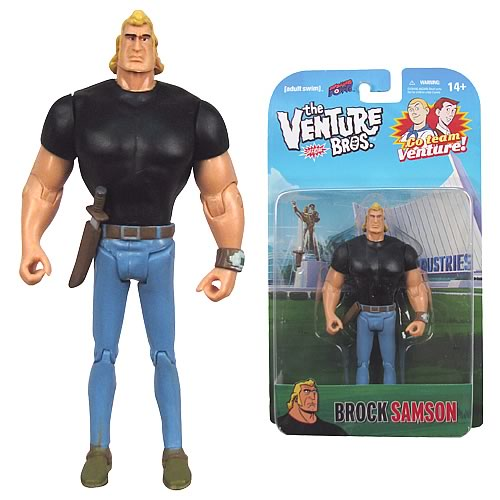 Venture Bros. Brock Samson (Black Shirt) 3 3/4-Inch Figure