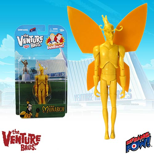 Venture Bros. Monarch Unpainted 3 3/4-Inch Figure-Exclusive