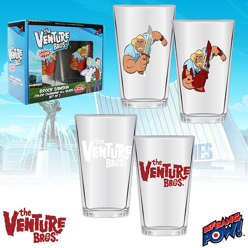 The Venture Bros. Color-Changing Brock 16 oz. Glass Set of 2