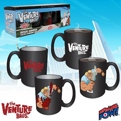 The Venture Bros. Brock Color-Changing Mug - Set of 2