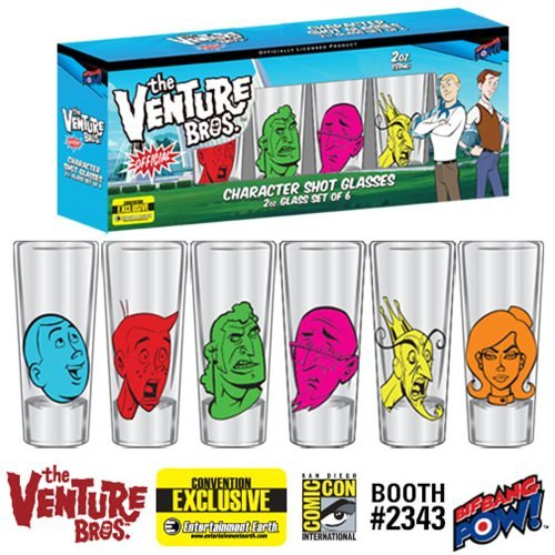 Venture Bros. Character Shot Glasses Set of 6-Con. Exclusive