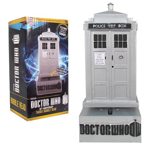 Doctor Who 50th Anniversary TARDIS Bobble Head with Sound