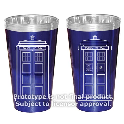 Doctor Who TARDIS 16 oz. Glass Set of 2