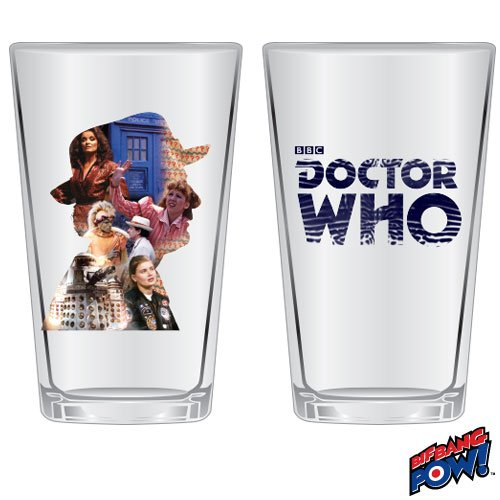 Doctor Who Anniversary Seventh Doctor 16 oz. Glass Set of 2