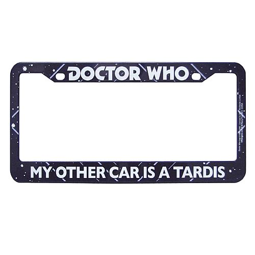 Doctor Who My Other Car Is A TARDIS License Plate Frame