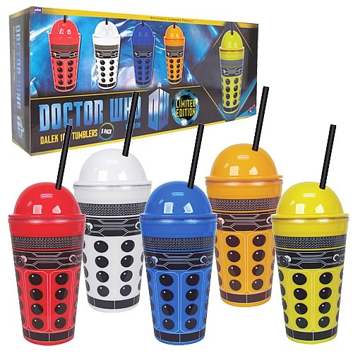 Doctor Who Dalek 16 oz. Tumbler Set of 5