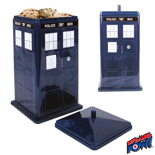 Doctor who tardis cookie tin bif bang pow doctor who cookie jars at entertainment earth - Tardis cookie jar ...