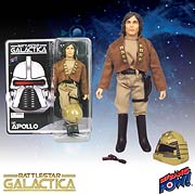 Battlestar Galactica Captain Apollo 8-Inch Figure Signed