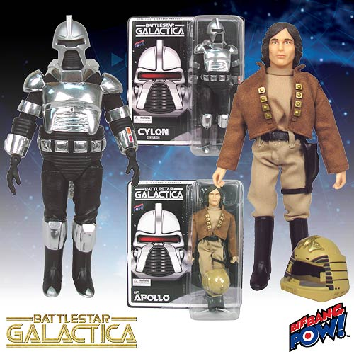 Battlestar Galactica Cylon and Captain Apollo Action Figures