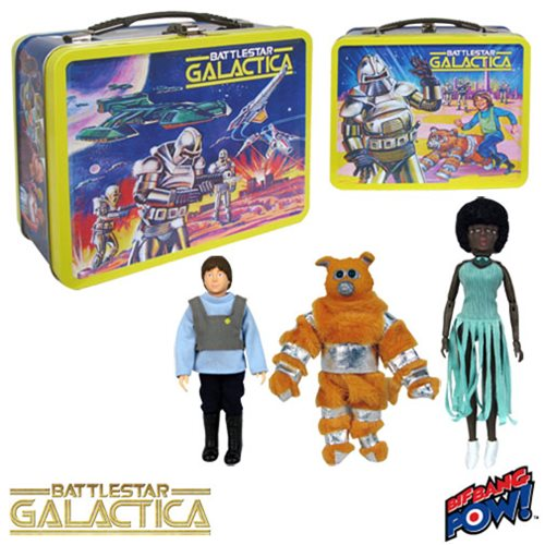 Battlestar Galactica Retro Tin Tote w/Figures Con. Exclusive