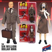 Six Million Dollar Man Oscar Goldman & Fembot Action Figures